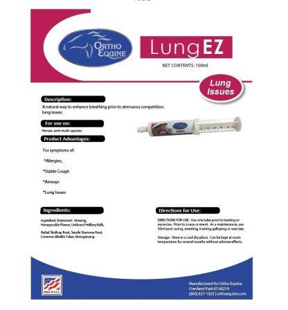 Ortho Equine Lung EZ Tube