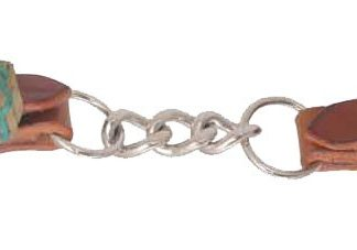 Rafter T Curb Strap w/ Single Chain & Rawhide Keeper