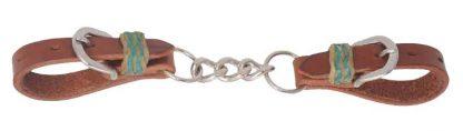 Rafter T Curb Strap w/ Single Chain & Rawhide Keeper
