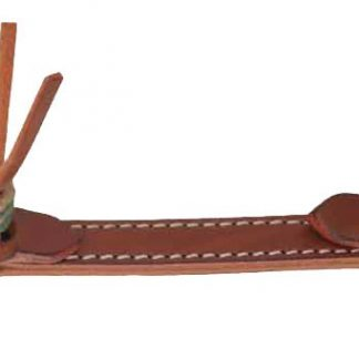 Rafter T Curb Strap w/ Rawhide Knotting