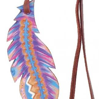 Rafter T Saddle Charm - Small Feather