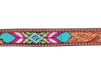 Rafter T Wither Strap w/ Beaded Inlay