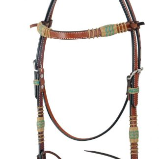 Rafter T Browband Headstall w/ Rawhide Knotting