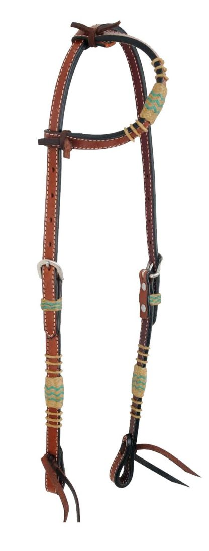 Rafter T One-Ear Headstall w/ Rawhide Knotting