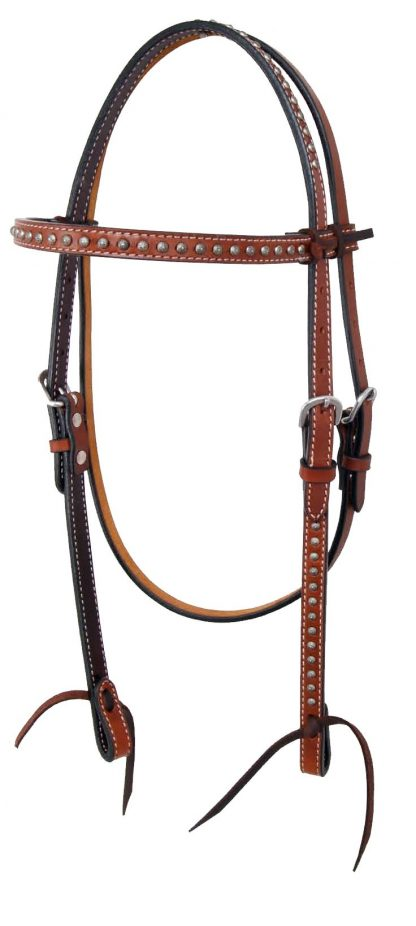 Rafter T Browband Headstall w/ Flower Spots