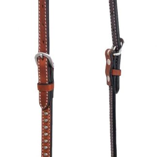 Rafter T One-Ear Headstall w/ Flower Spots