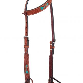 Rafter T One-Ear Headstall w/ Rawhide Arrow
