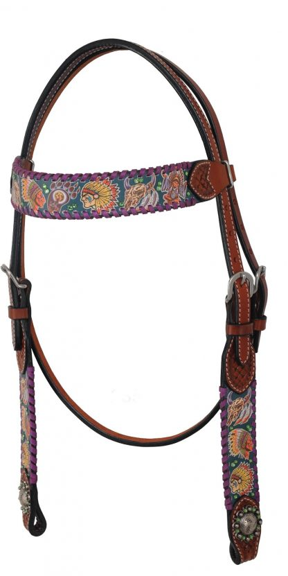 Rafter T Browband Headstall w/ Tribal