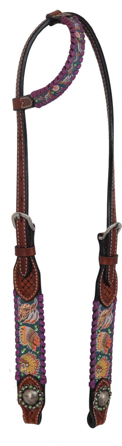 Rafter T One-Ear Headstall w/ Tribal