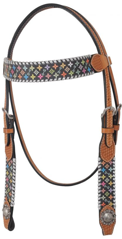 Rafter T Browband Headstall w/ Multi-Color