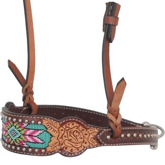 Rafter T Noseband w/ Beaded Inlay
