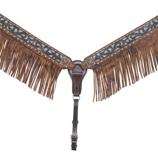 Rafter T Breast Collar w/ Filigree & Fringe