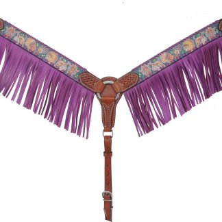 Rafter T Breast Collar w/ Tribal & Fringe