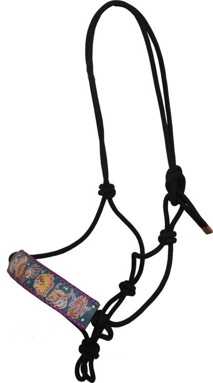 Rafter T Rope Halter w/ Tribal