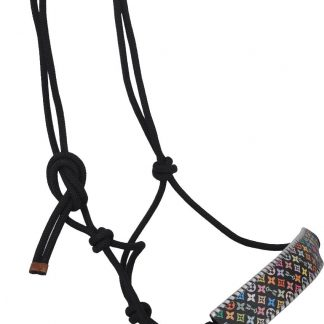 Rafter T Rope Halter w/ Multi-Color Design