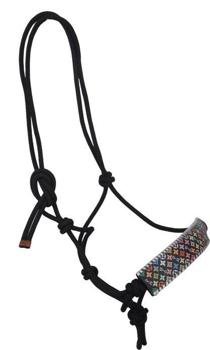 Rafter T Rope Halter w/ Multi-Color Design