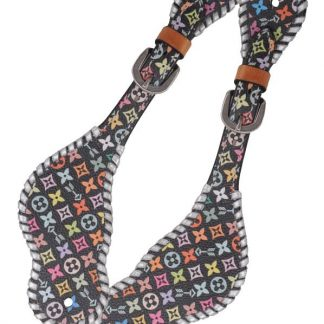 Rafter T Ladies Spur Strap w/ Multi-Color Design