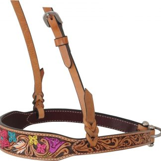 Rafter T Noseband w/ Flower Tooling