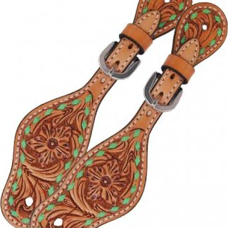 Rafter T Kids Spur Strap w/ Floral Tooling & TT Finish