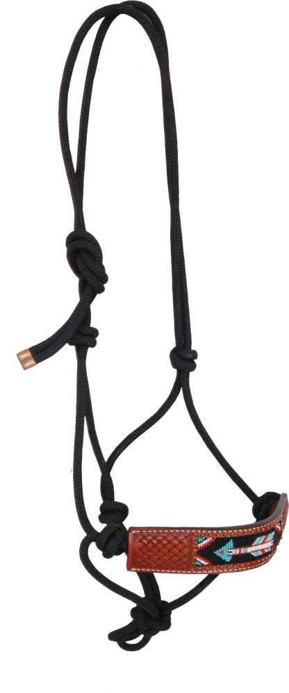 Rafter T Rope Halter w/ Beaded Inlay Arrow