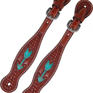 Rafter T Ladies Spur Strap w/ Rawhide Arrow
