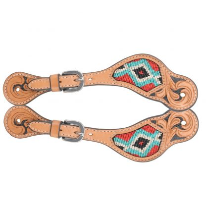 Oxbow Youth Beaded Spur Straps