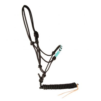 Oxbow Diamond Beaded Nose Rope Halter with Lead