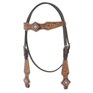 Oxbow Metallic Browband Headstall