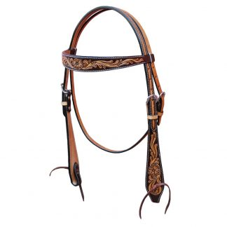 Oxbow Antique Floral Browband Headstall