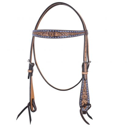 Oxbow Turquoise Buckstitch Browband Headstall