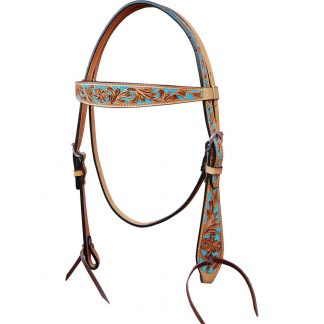 Oxbow Turquoise Inlay Browband Headstall