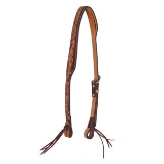 Oxbow Antique Tooled Split Ear Headstall