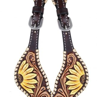 Rafter T Ladies Spur Strap w/ Sunflowers