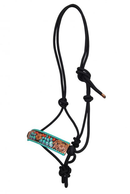 Rafter T Rope Halter w/ Cactus
