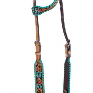 Rafter T One-Ear Headstall w/ Cactus