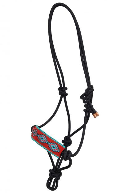 Rafter T Rope Halter w/ Embroidered Aztec