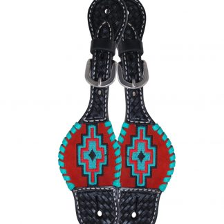 Rafter T Kids Spur Strap w/ Embroidered Aztec