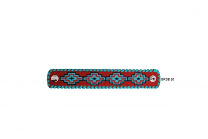 Rafter T Cuff Bracelet w/ Embroidered Aztec