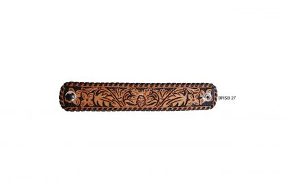 Rafter T Cuff Bracelet w/ Floral Tooling