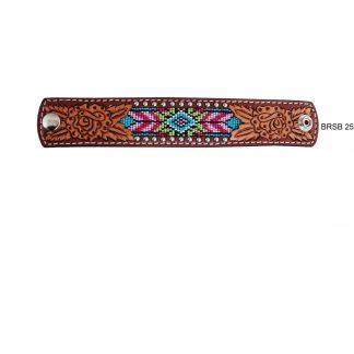 Rafter T Cuff Bracelet w/ Beaded Inlay