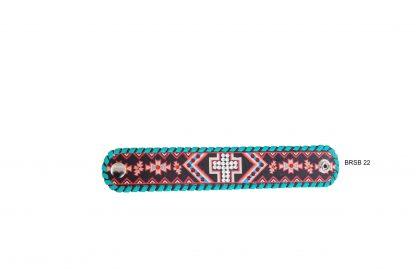 Rafter T Cuff Bracelet w/ Aztec