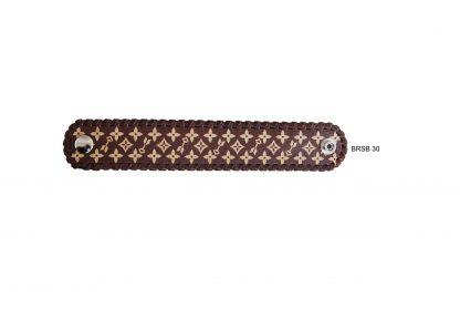 Rafter T Cuff Bracelet w/ Brown Design