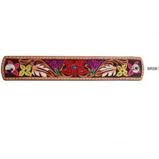 Rafter T Cuff Bracelet w/ Flower Tooling