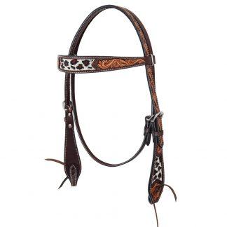 Oxbow Safari Beaded Browband Headstall