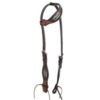 Oxbow Navajo Embroidered Slip Ear Headstall