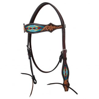 Oxbow Navajo Embroidered Browband Headstall