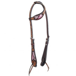Oxbow Python Inlaid Slip Ear Headstall