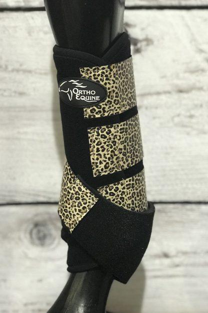 Ortho Equine Cheetah Print Boot - Hind