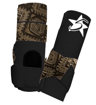 5 Star Patriot Sport Support Boot with Aztec Accent Leather - Rear