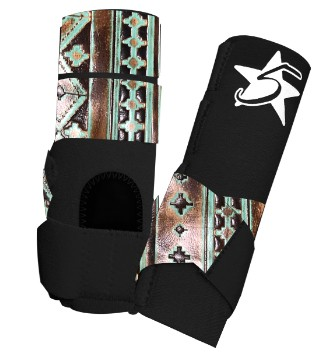 5 Star Patriot Sport Support Boot with Navajo Accent Leather - Rear